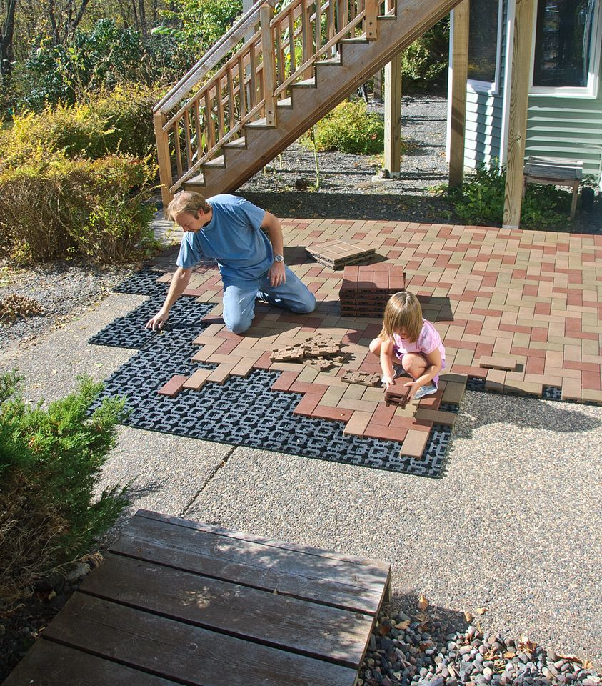 Resurfacing old patios is a breeze with AZEK Pavers DIY pavers patio  AZEK Pavers in 2019  Patio Diy patio Patio resurfacing ideas