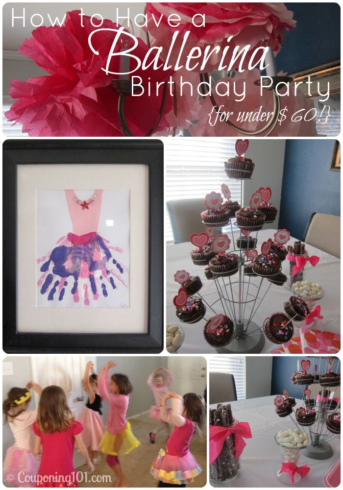Fun Ballerina birthday party! Lots of great tips on how to do it all on a budget!