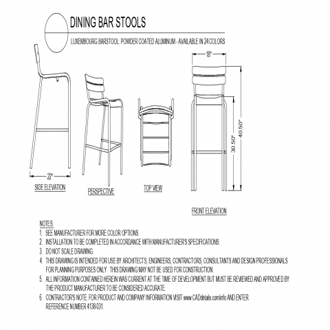 Stupendous Autocadfiles Bar Chairs Bar Stools Dining Gmtry Best Dining Table And Chair Ideas Images Gmtryco