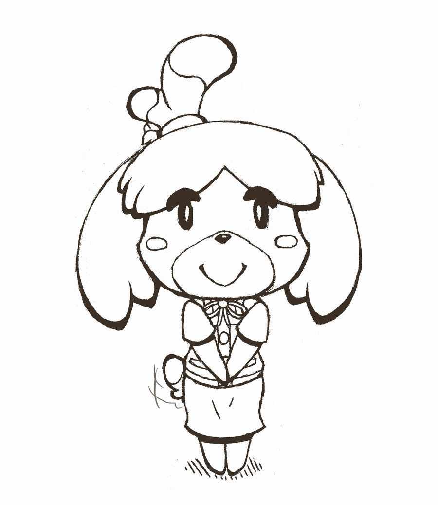 animal crossing isabelle lineart Google Search