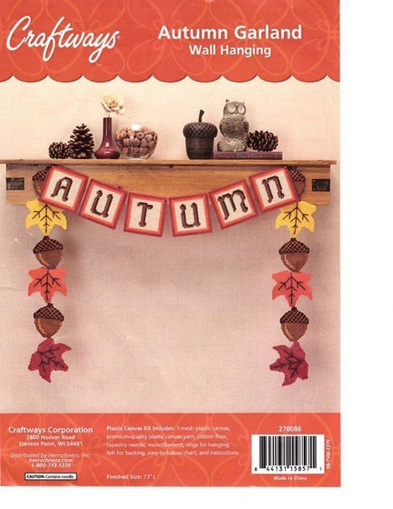 Autumn Wreath Garland Wall Hanging By Craftways 1 3 Plastic
