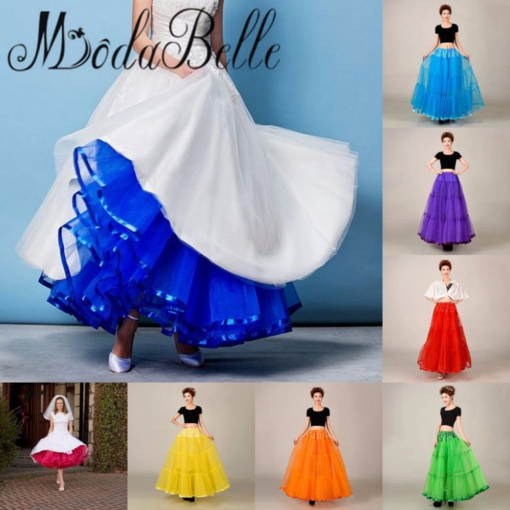 Red Blue White Coloured tulle petticoat layer skirt girl cheap ...