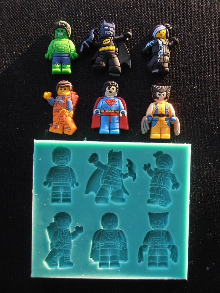 Silicone Mould LEGO HEROES Sugarcraft Cake Decorating Fondant / fimo ...