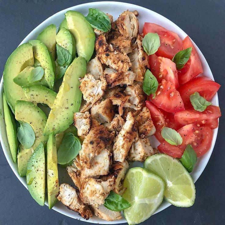 Photo of Avocado Chicken Basil Salad. I tend to …