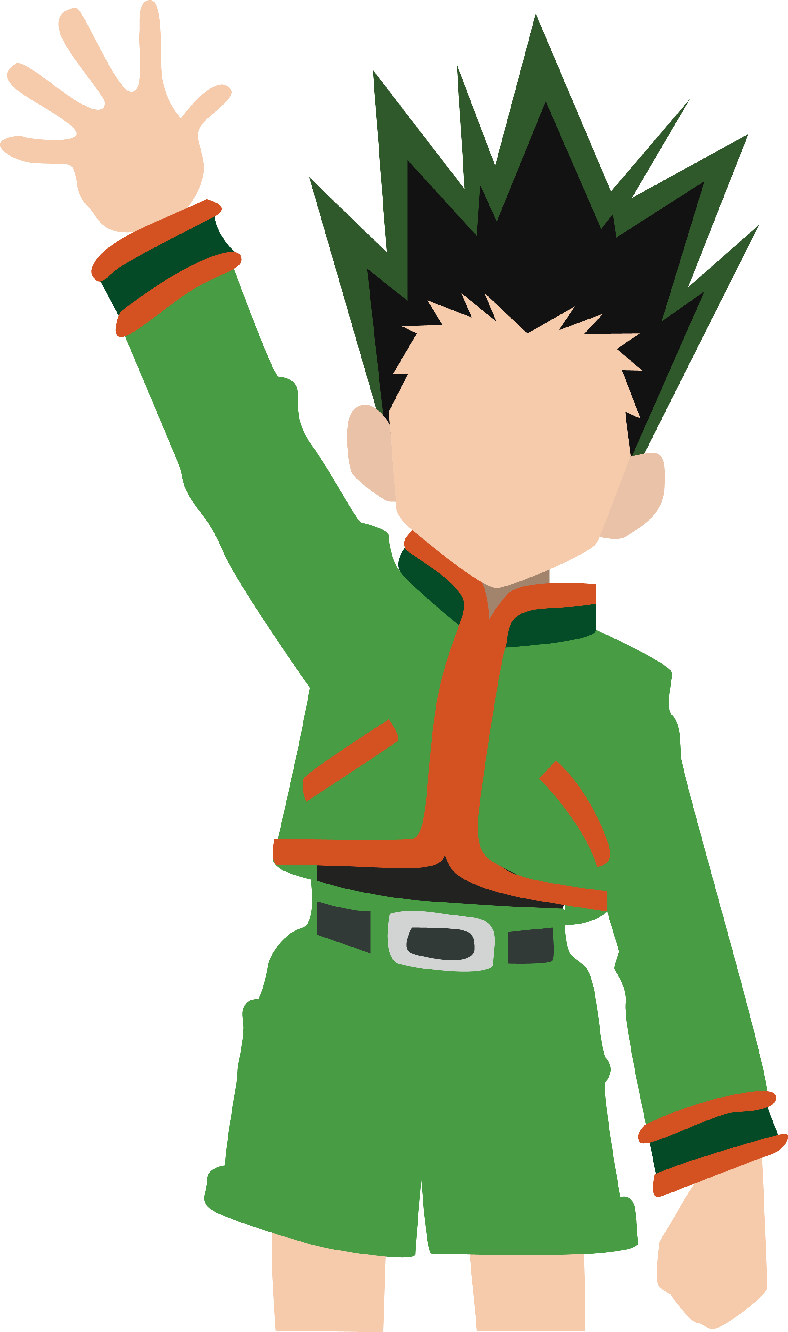 Gon Freecs Hunter x Hunter. By Caelyn Greaves. Done in