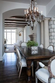 Designing Houston Couple S Austin Home Is Lakeside Luxe Dining Room French Dark Wood Dining Table Wood Dining Room Table