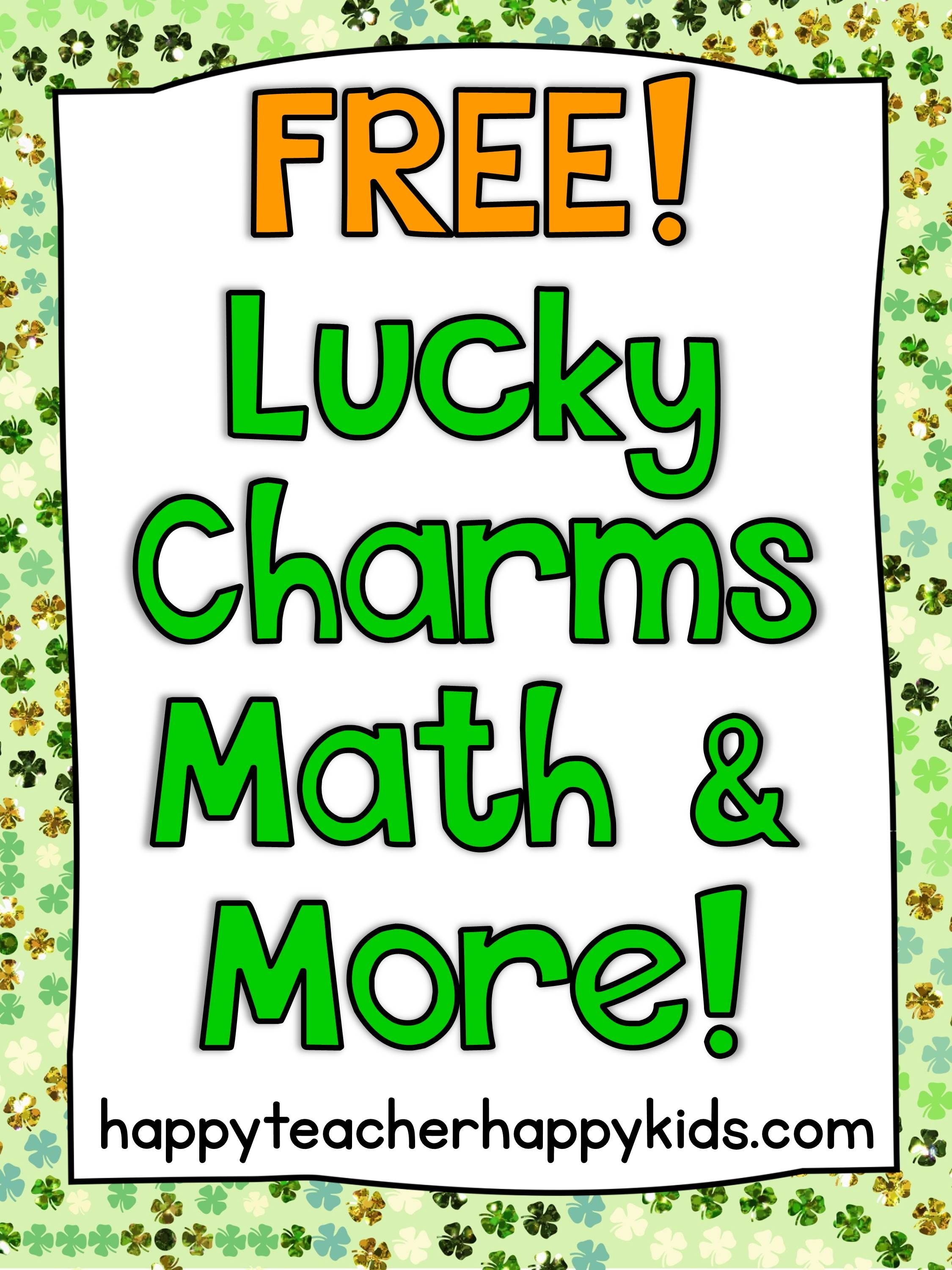 Free Lucky Charms Math Amp More Sorting Counting Graphing Addition Games Measurement Lots