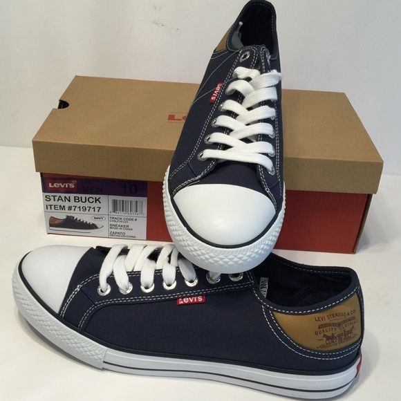 Levi's Stan Buck Converse Style Snickers NavyDenim Levi's ...