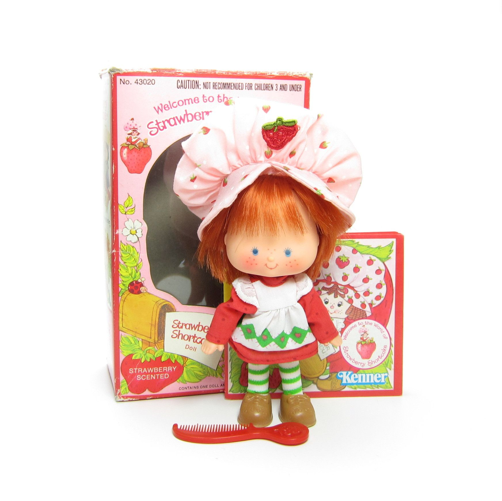 Vintage 1980 S Original Strawberry Shortcake Doll Red Hair Comb Accessory