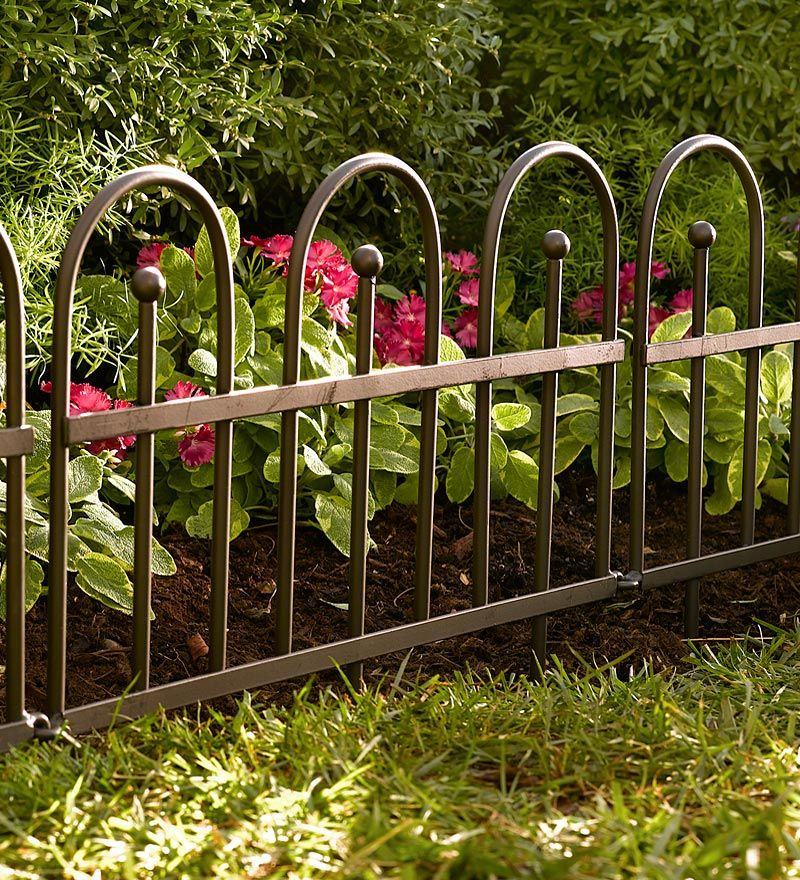 Classic Iron Fence Edging Plow & Hearth Garden edging