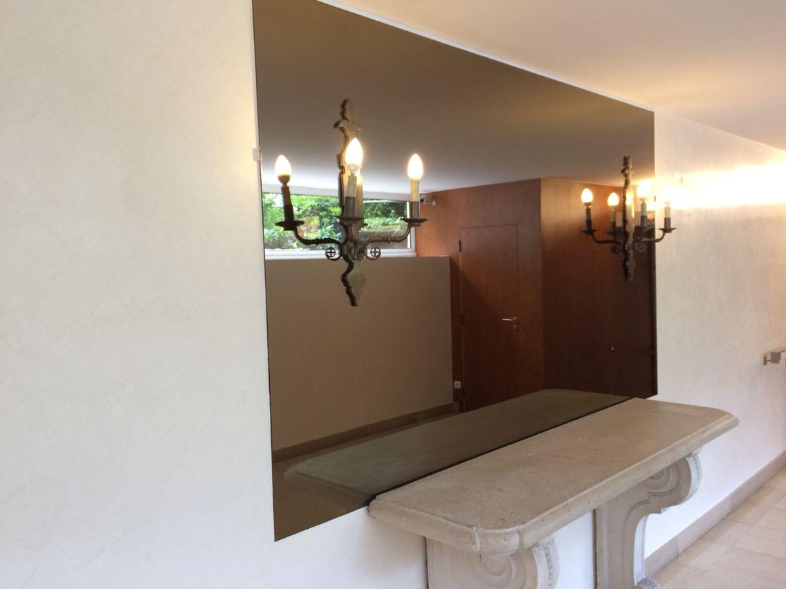 miroir bronze brun sur mesure