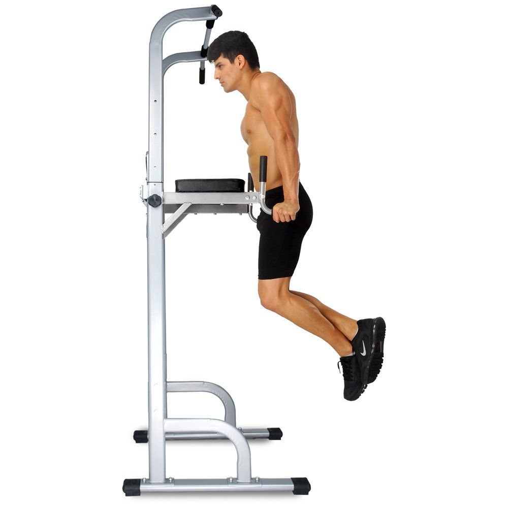Luxury Multi-Function Power Tower Chin Up Pull Up Bar Station Dip Knee Raise A