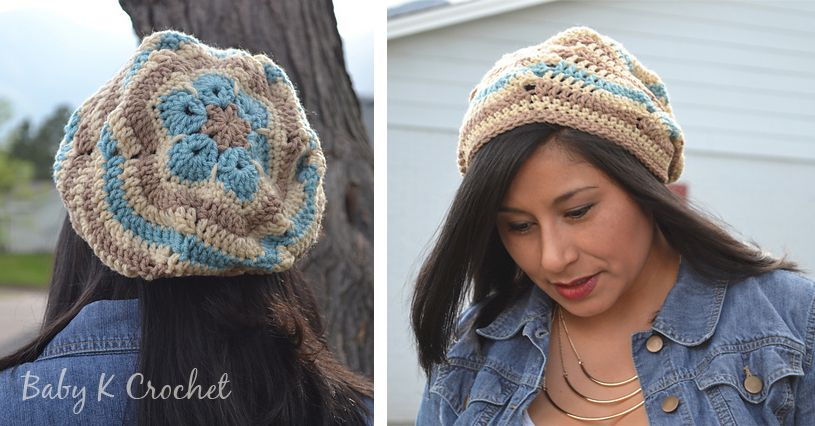 Flower Ripples Slouch | Hats and Scarves | Pinterest | Ganchillo