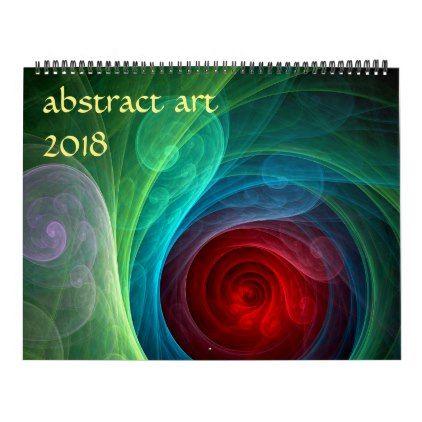 2018 Modern Abstract Art Calendar - pattern sample design template - calendar sample design