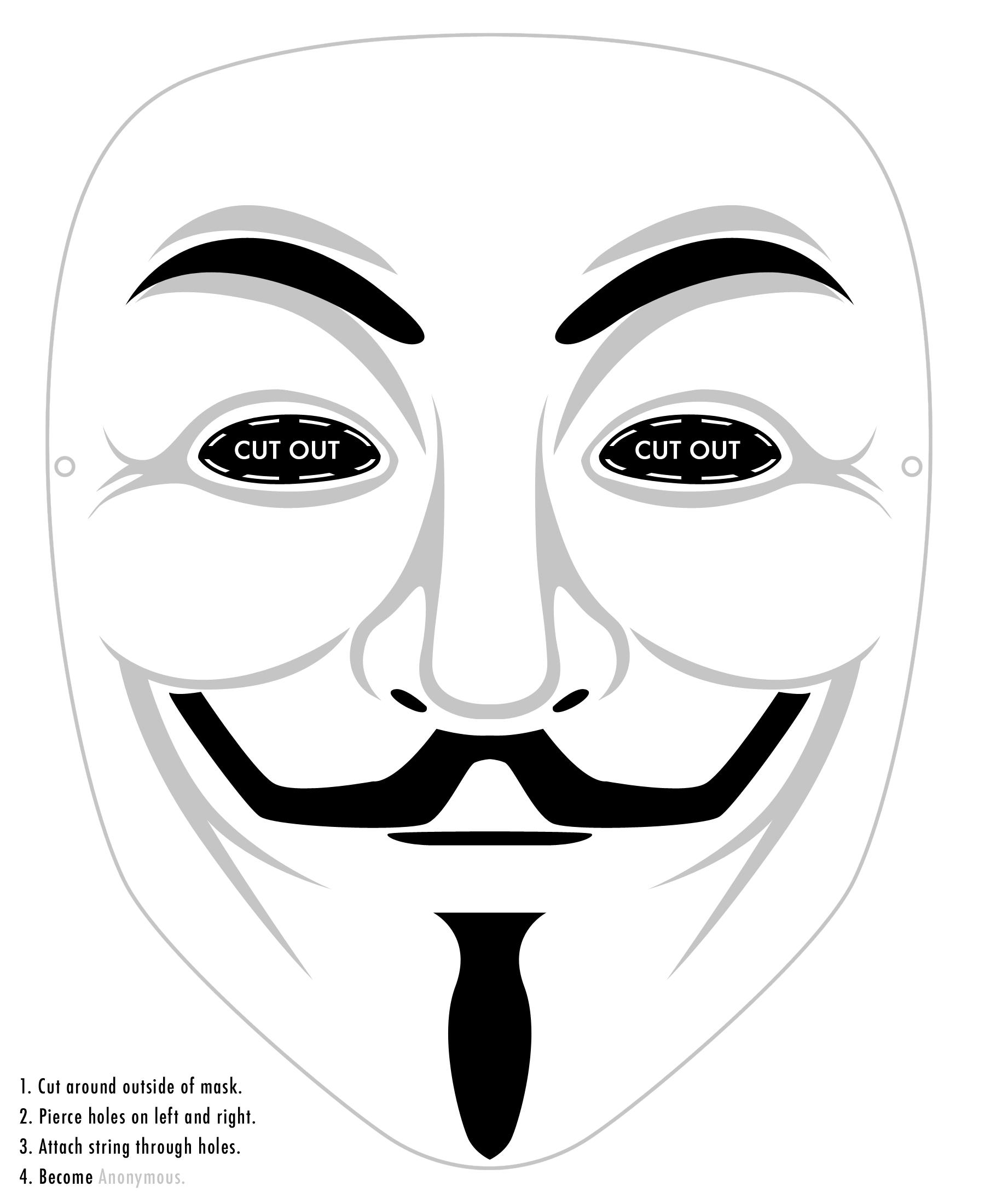 Mascara de V, para imprimir y recortar! | Guy fawkes, Masking and ...
