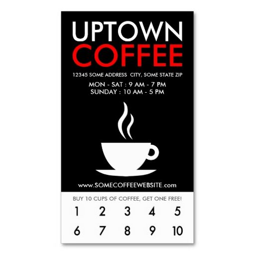 Uptown coffee loyalty business card Card templates, Business - membership cards templates