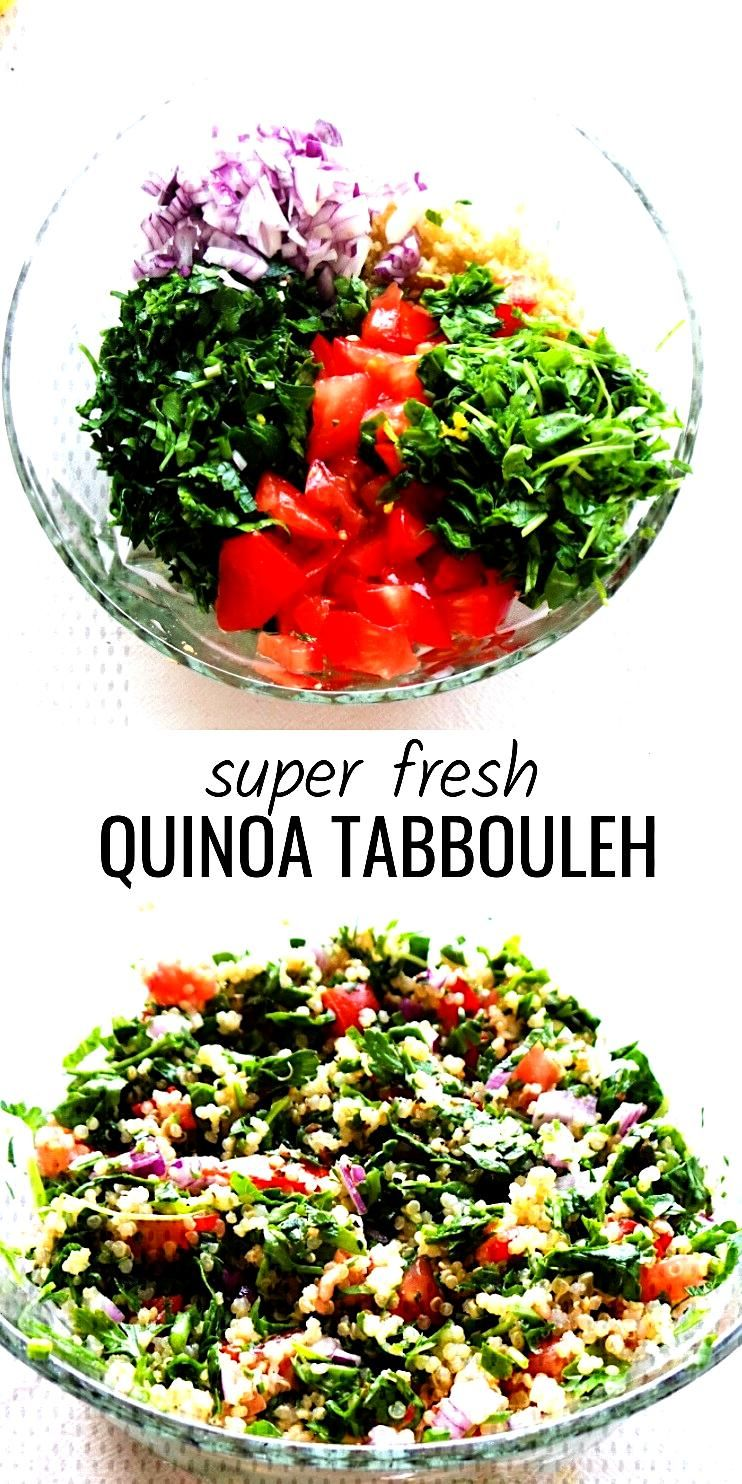 Quinoa Tabbouleh Salad - Beauty Bites - Fresh and healthy quinoa salad aka quinoa tabbouleh! This