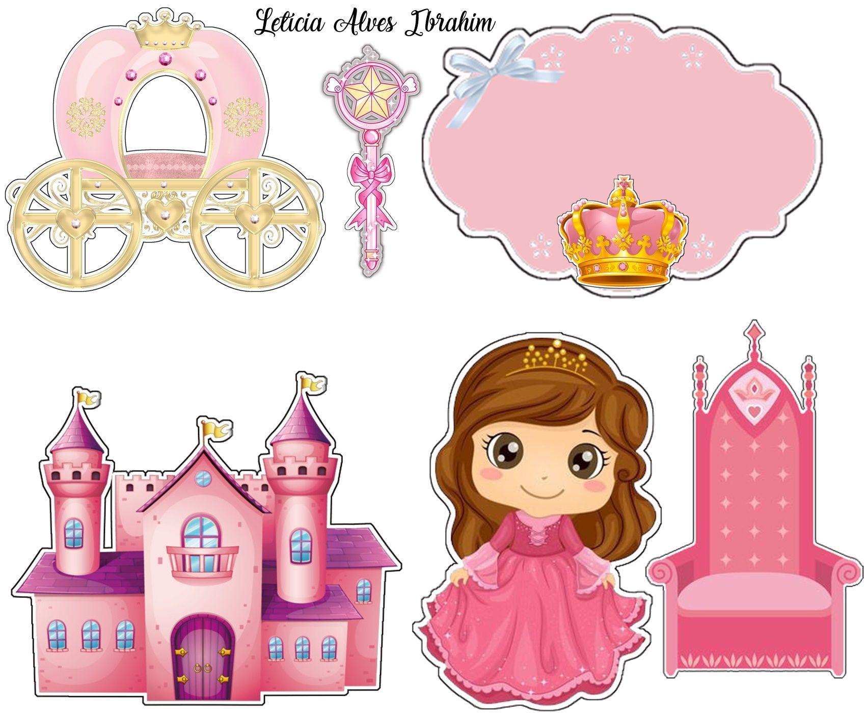 Topper Princesa Realeza Bolo Ursinha Princesa Bolo De