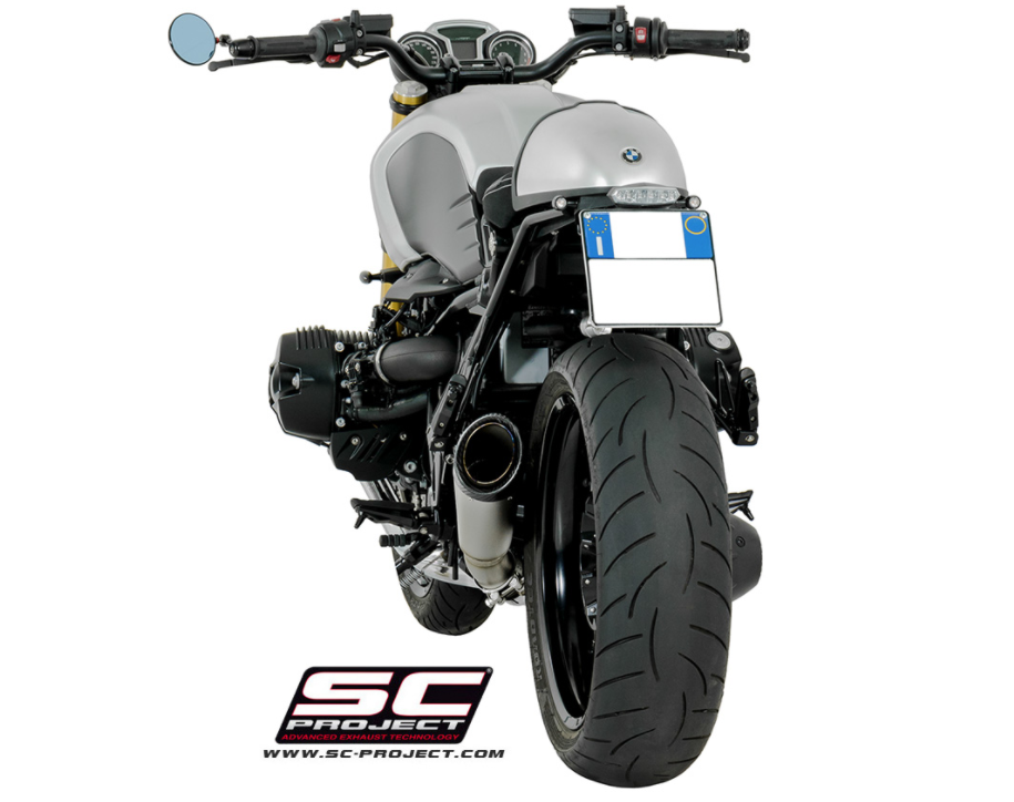 BMW R nineT SC-Project S1 Exhaust System rear view | BMW R9T