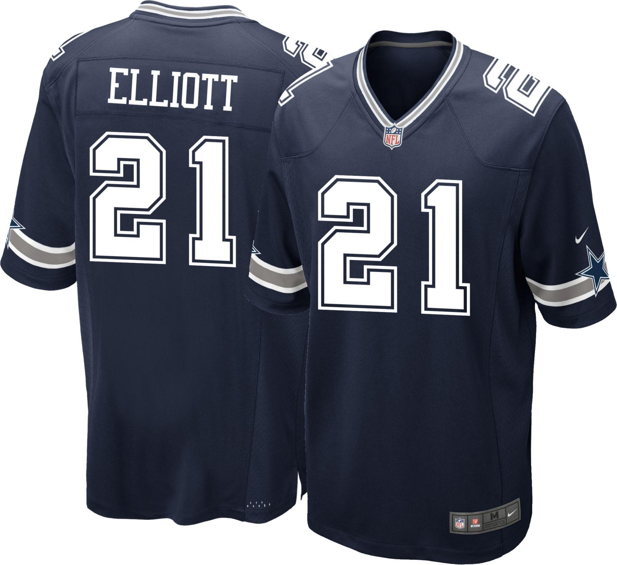 quality design fe904 2de1e Nike Men's Game Jersey Dallas Cowboys Ezekiel Elliott #21 ...