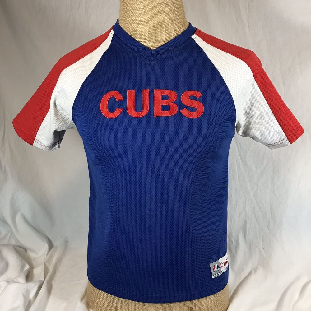 on sale e0395 f2994 Embroidered CUBS on front & logo on left sleeve. Size: Youth ...