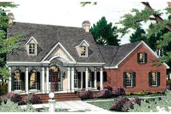 Southern Style House Plan 3 Beds 2 5 Baths 2197 Sq Ft Plan 406 118 Colonial House Plans Colonial House House Plans
