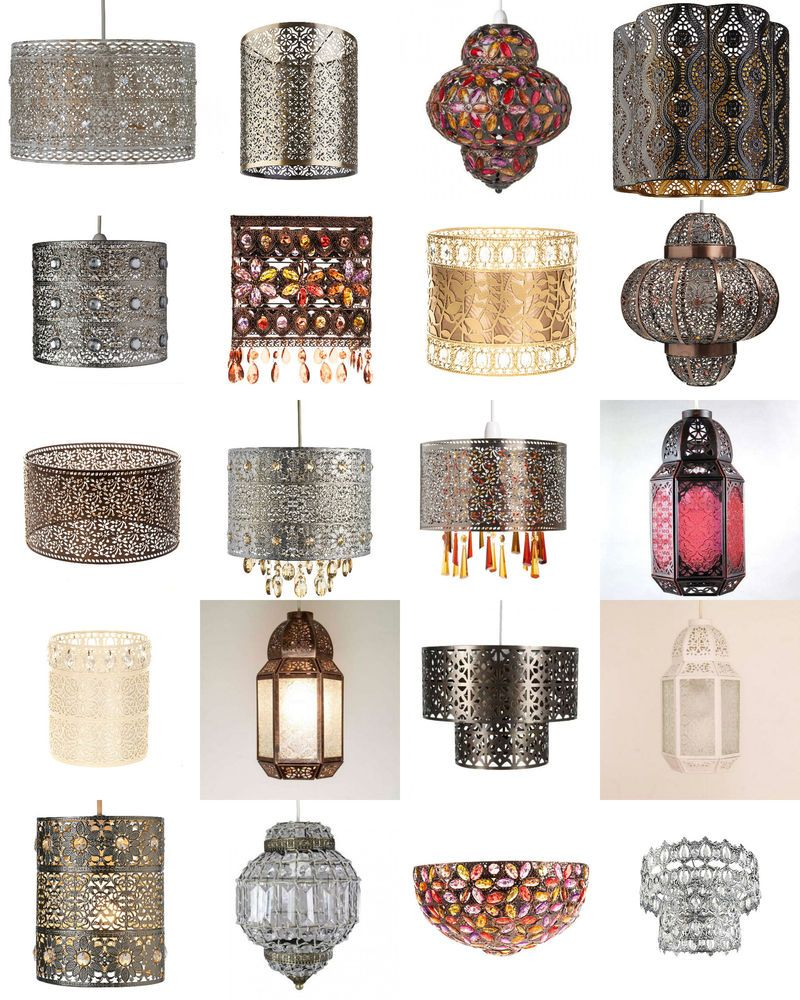 Shabby Chic Moroccan Light shade Ceiling Pendant Lampshade