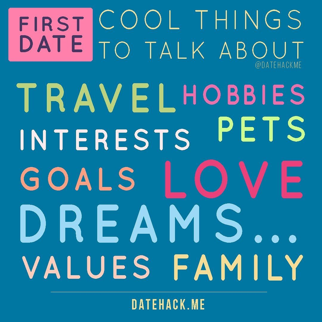 subjects to talk about on a first date