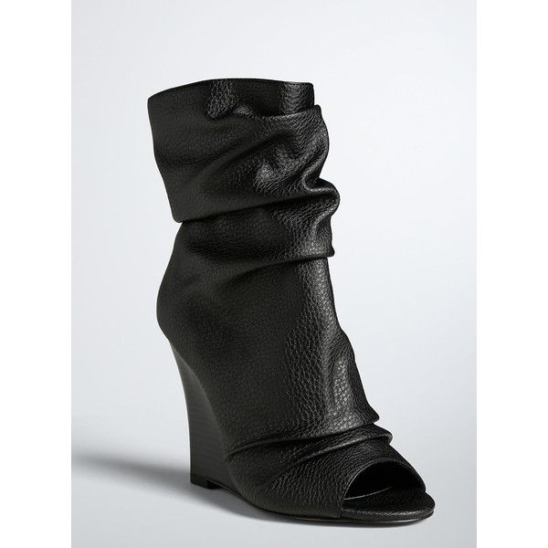 f9da5f6881a9 Torrid Peep Toe Wedge Booties (Wide Width) ( 57) ❤ liked on Polyvore  featuring shoes