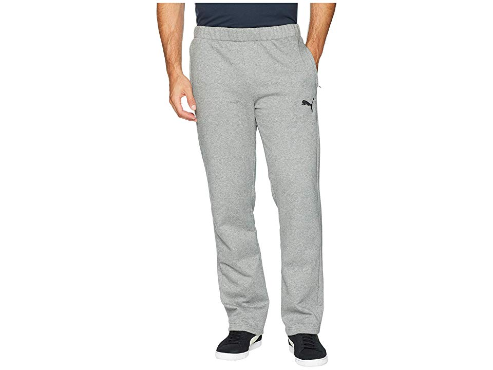 PUMA P48 Modern Sports Fleece Open Pants Medium Grey Heather Mens Workout Keep it classic in the PUMA P48 Modern Sports Fleece Open Pants PUMA Lifestyle apparel marries t...
