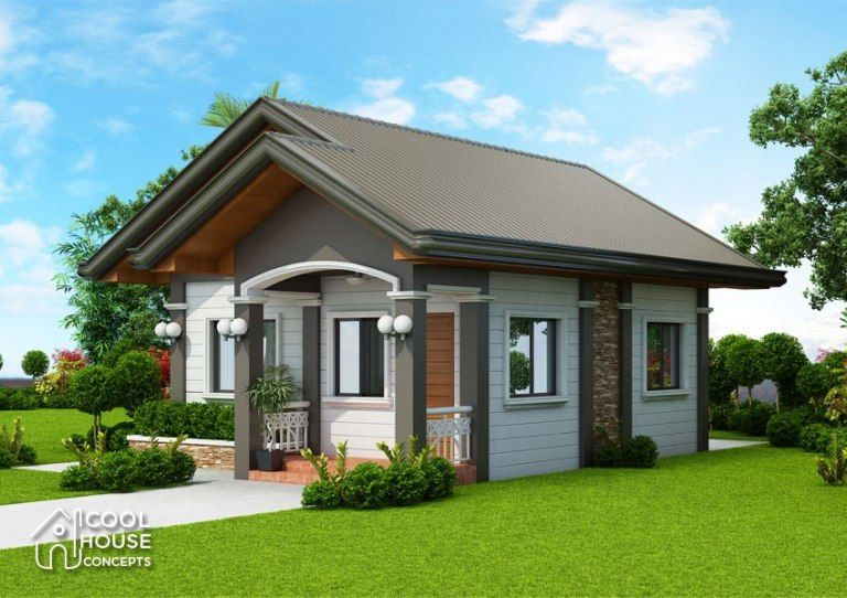 Home Design Plan 10x13m With 2 Bedrooms Home Ideas Bungalow House Design Simple House Design House Plans