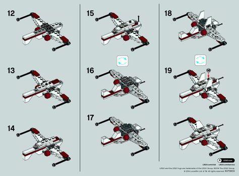 2 Star Wars Arc 170 Starfighter Lego 30247 Micro Lego Star