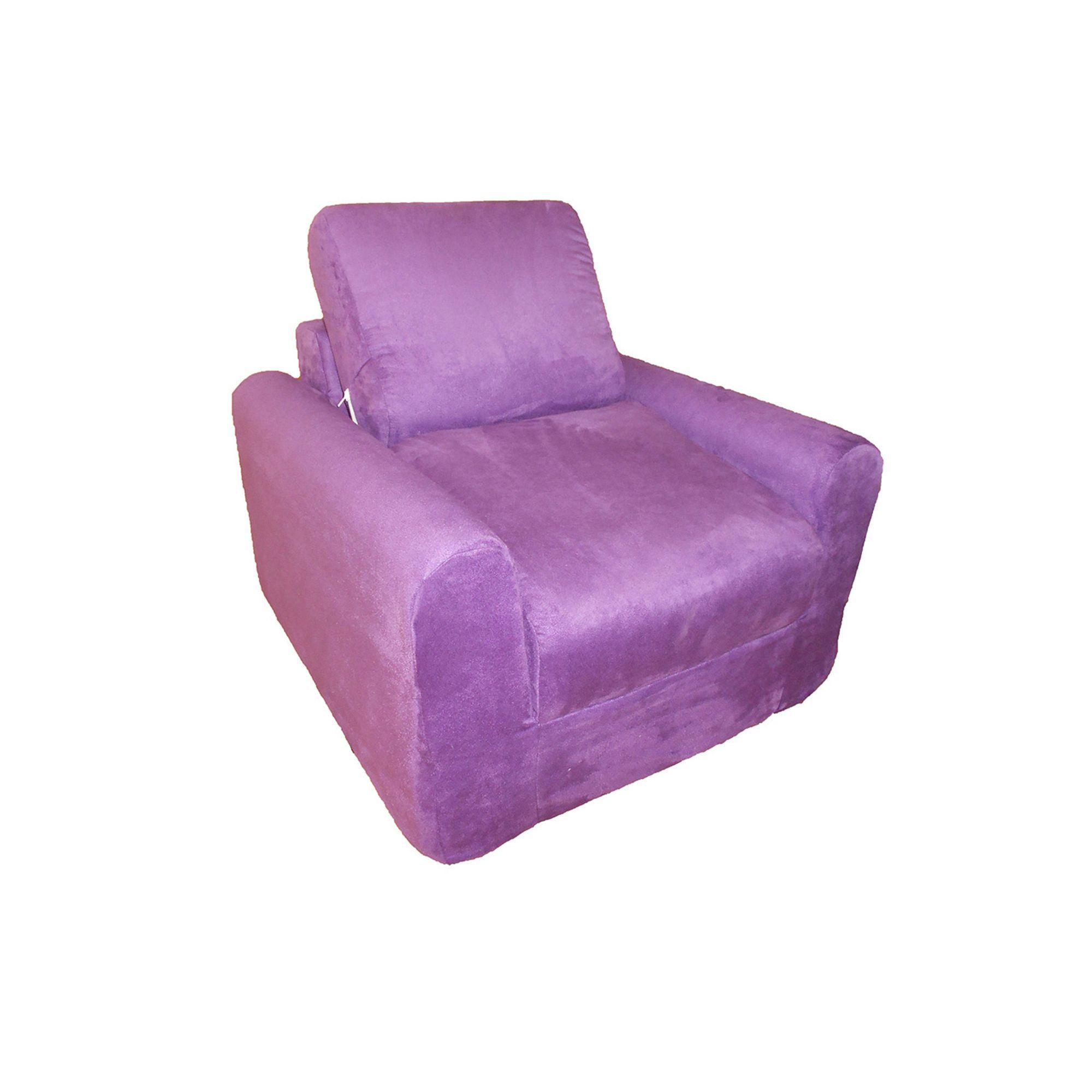 Surprising Fun Furnishings Microsuede Sleeper Chair Kids In 2019 Machost Co Dining Chair Design Ideas Machostcouk