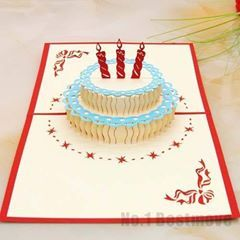 Happy Birthday Cake 3d Pop Up Greeting Card Kirigami Pattern