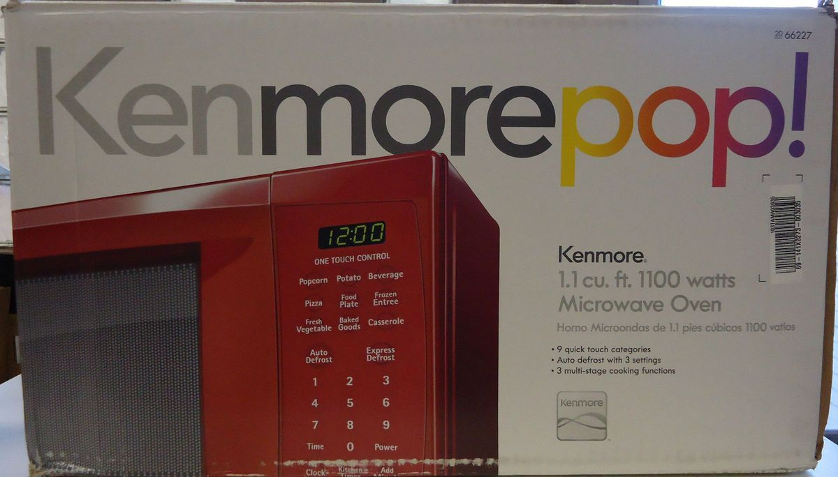 Kenmore Red 1 1 Cu Ft 1100 Watts Countertop Microwave Oven New