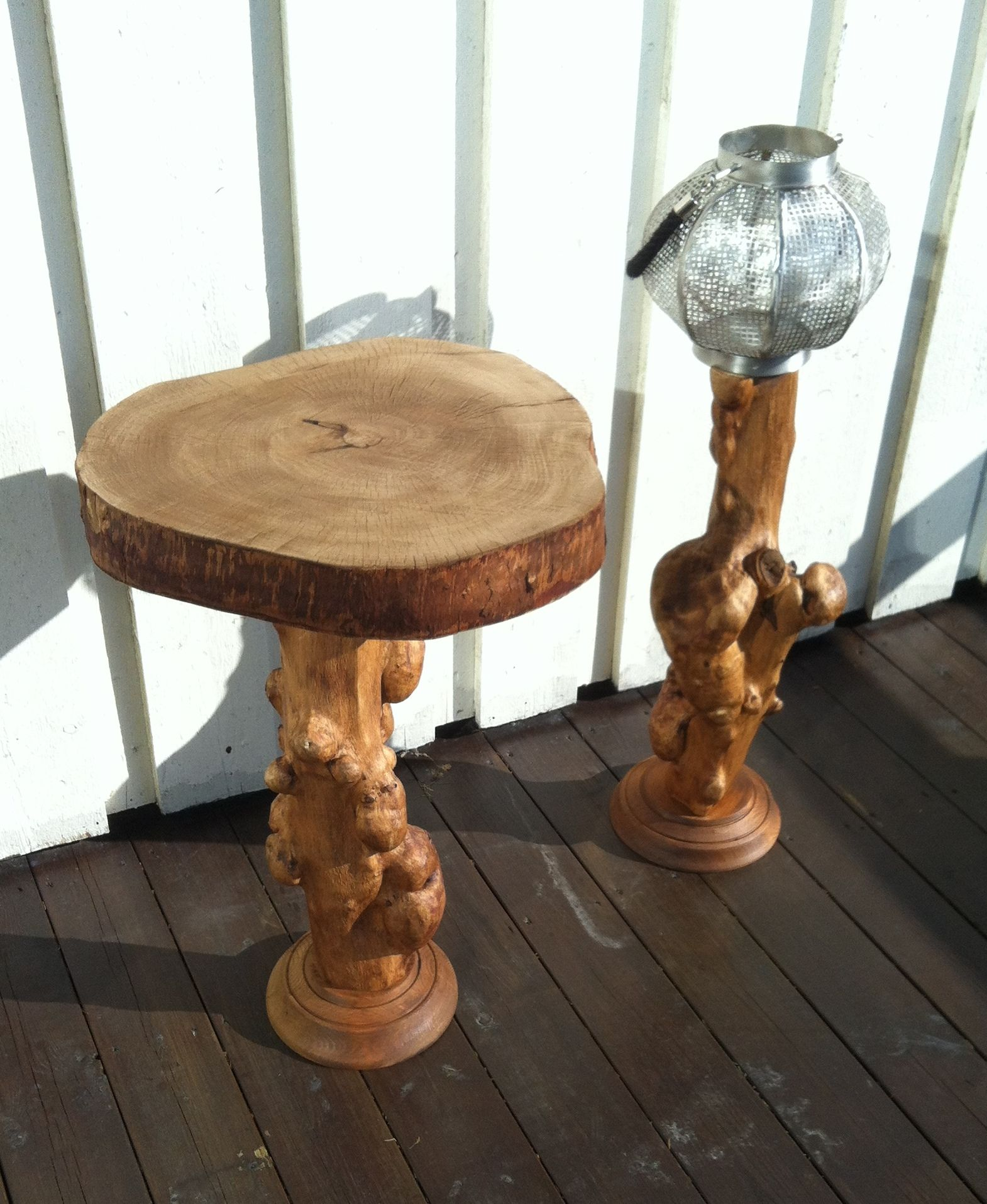 Table and lantern