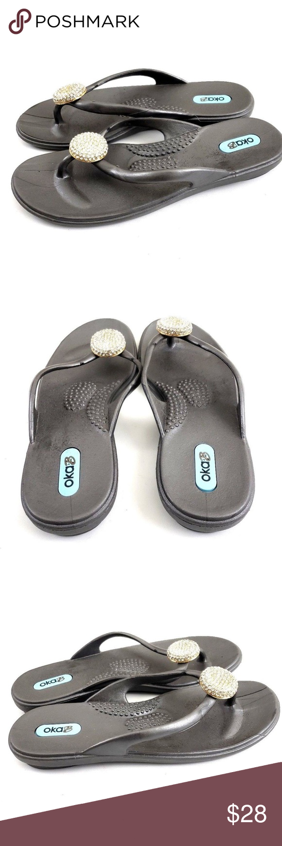 e9cecd6e330f8 Oka-B Womens Lucky Silver Twilight Color Sandals You are buying a pair of  Oka-B Shoes Style  Flip Flops Color  Twilight Size  Small Condition  New  without ...