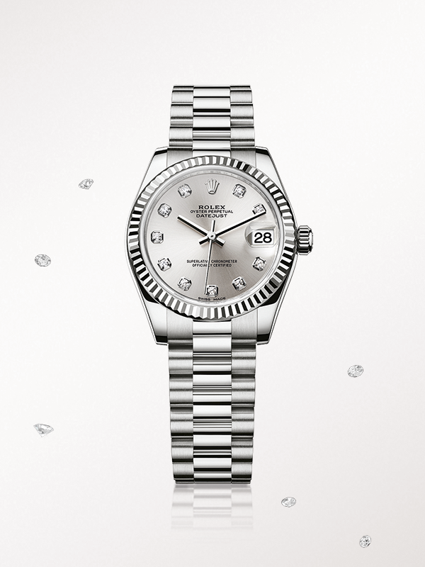 099c095a856 The Rolex Lady-Datejust 31 in white gold