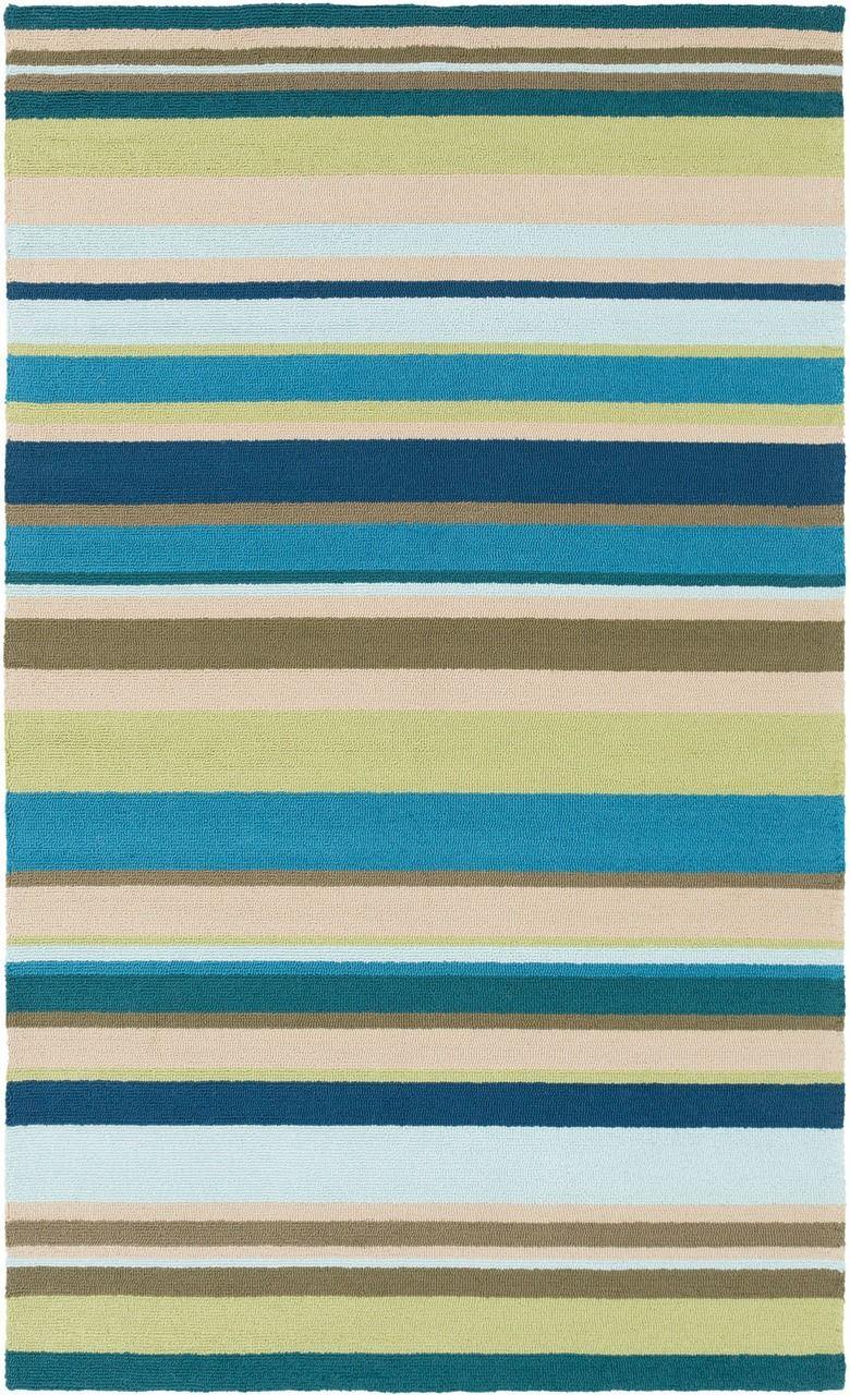 sea blues striped area rug  indoor outdoor area rugs outdoor  - sea blues striped area rug