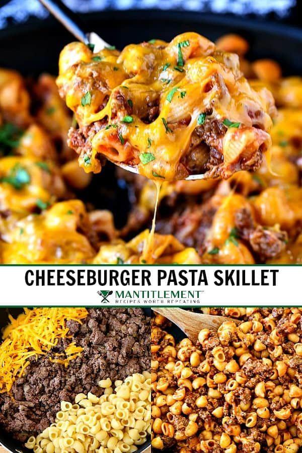 Photo of Cheeseburger Pasta Skillet   A 5 Ingredient Dinner Recipe!