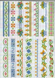 Small cross stitch borders