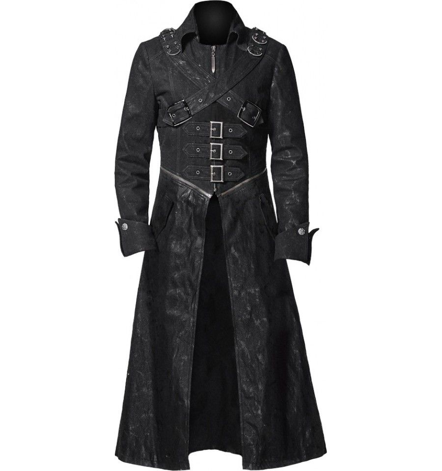 Men/'s Steampunk Long Gothic trench coat
