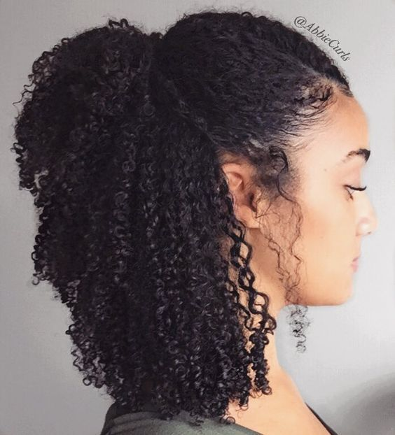 A B B I E C U R L S Abbiecurls On Instagram Half Up Half Down Wash Go Hair Products Curly Hair Styles Natural Hair Styles Curly Hair Styles Naturally