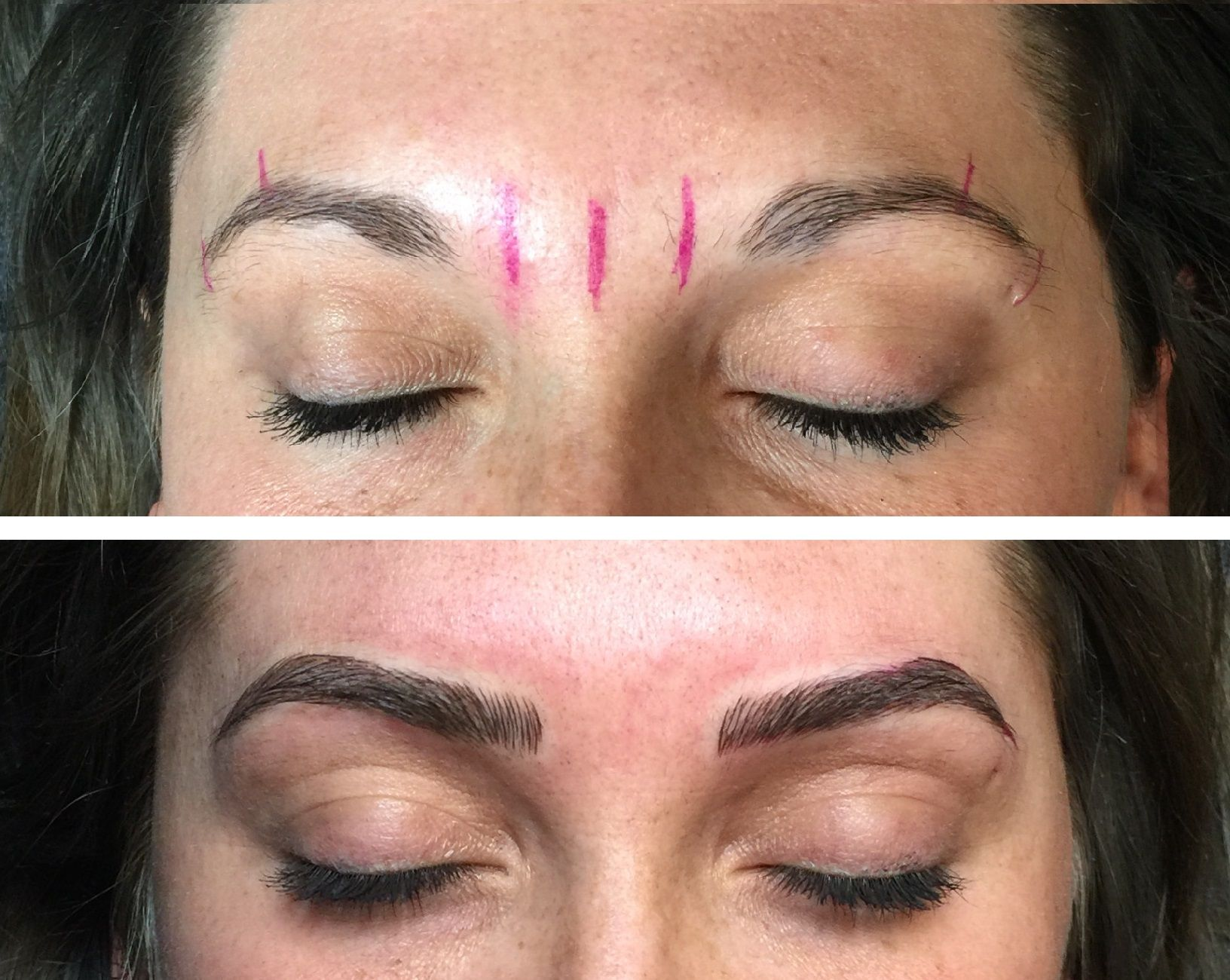 Microblading before and after. Permanent Makeup eyebrow color ...