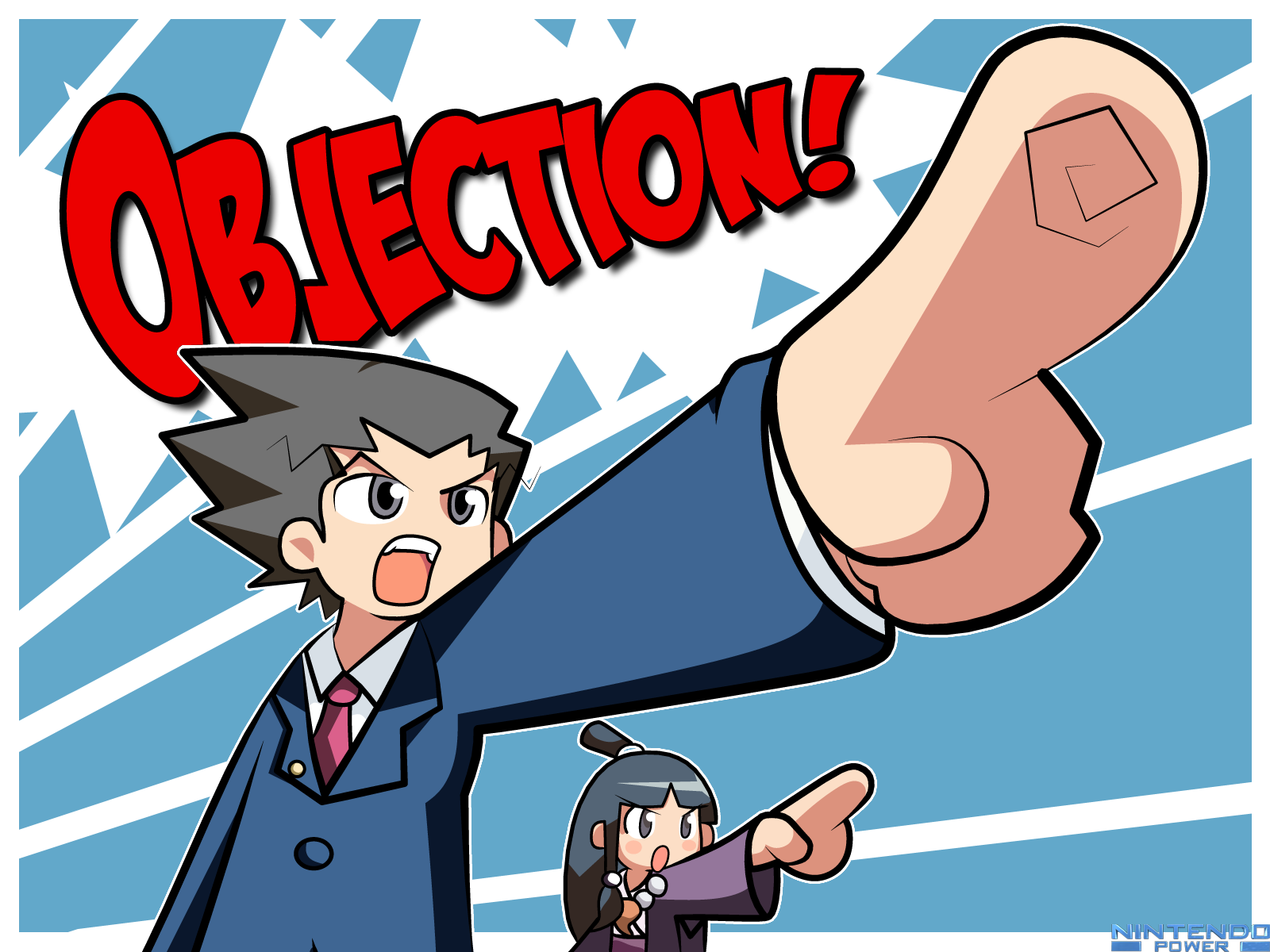 Objection Chibi Version Phoenix Wright Anime Images Ace