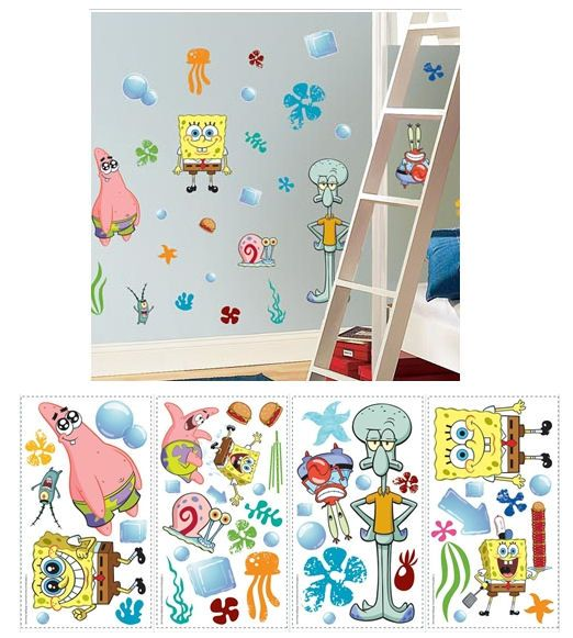 Spongebob Squarepants Peel And Stick Wall Stickers Wall Sticker - Spongebob wall decals
