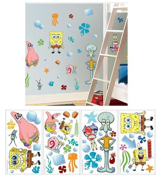 Spongebob Squarepants Peel And Stick Wall Stickers Wall Sticker - Spongebob wall decals