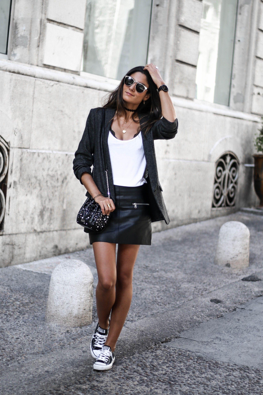 tenue professionnelle converse noir