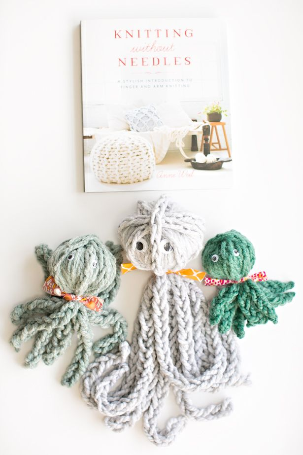 finger knit octopus   review of knitting without needles