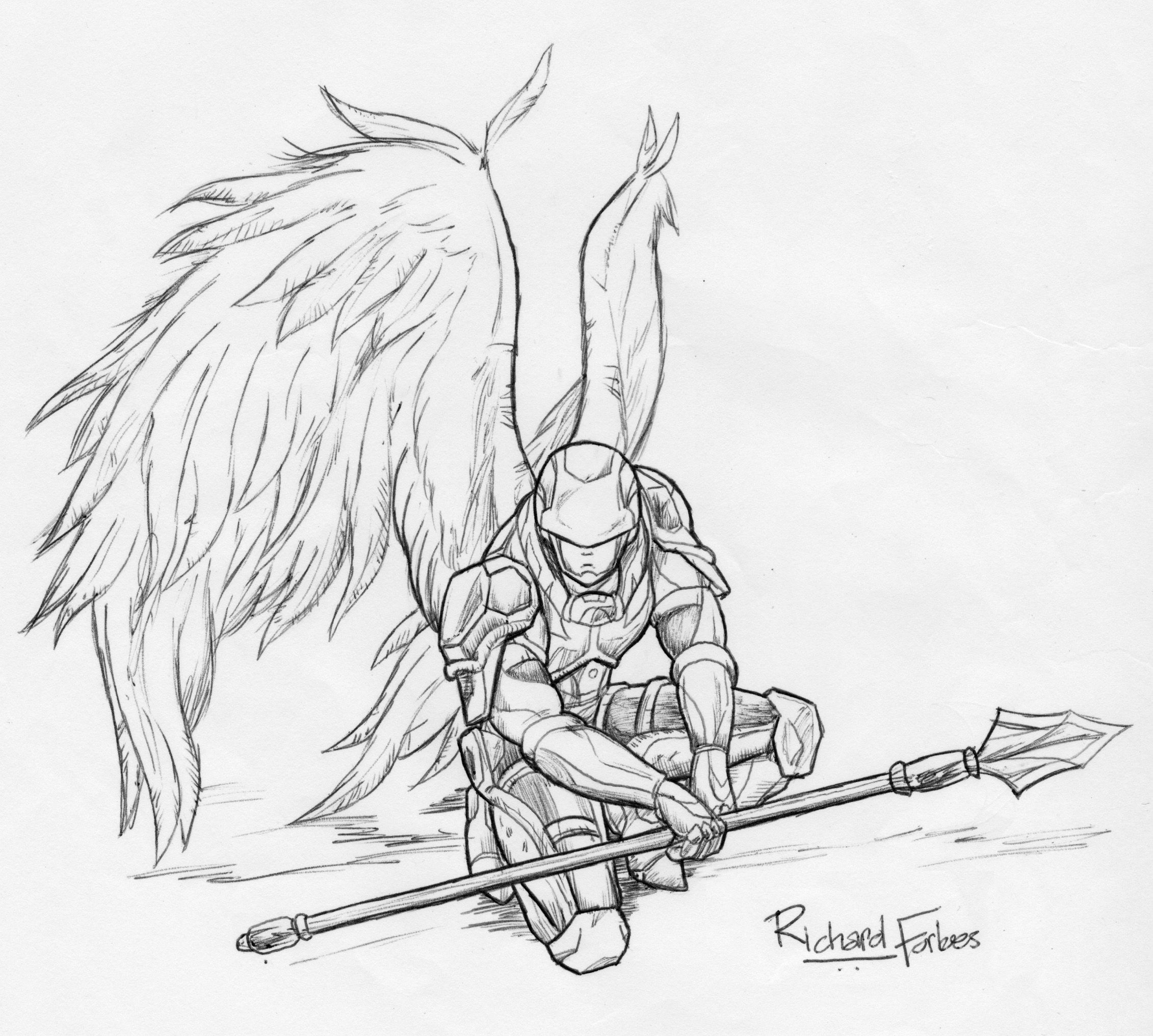 Angel Knight Drawing